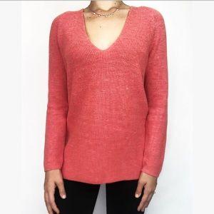 NIC + ZOE Knit Long Sleeve V-Neck Sweater size M